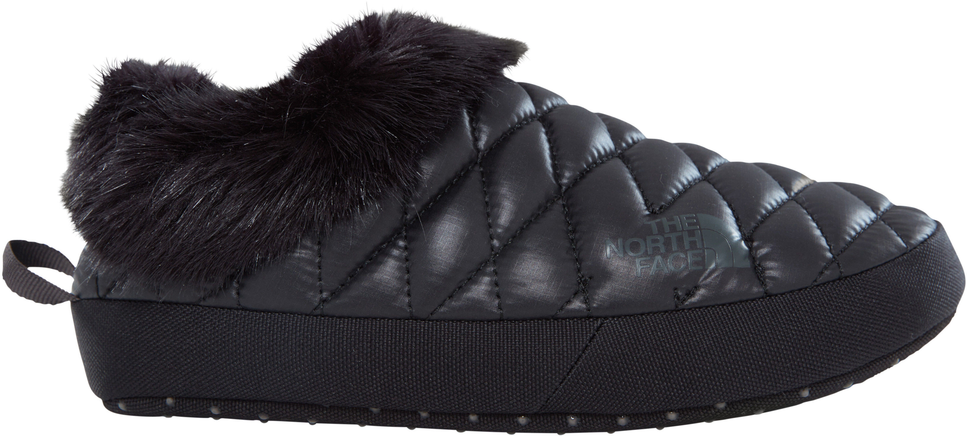 971160be02 The North Face ThermoBall Tent Mule Faux Fur IV Shoes Damen shiny black/beluga  grey